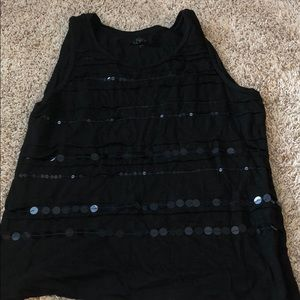 Black tank with embellishment